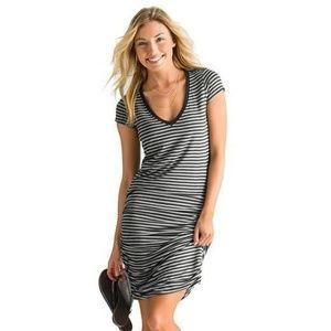 Athleta V-Neck Striped Tee Dress Size XX-Small